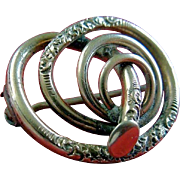 Gold-Filled Victorian Spiral Brooch Circa 1880