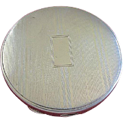 Art Deco Sterling Silver Round Compact