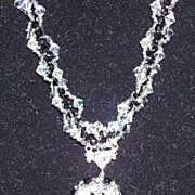 Black n White  - Striking Necklace, Swarovski Crystals, Sterling Silver