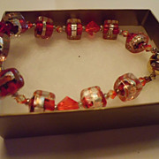 "SALE ""Sparky"" - pretty glass cube bracelet"