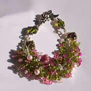 """Roses"" - Spring Festival - View from the Vineyard series - Bracelet/ or Necklace?"