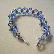Sapphire  Crystal Bracelet - light & medium blues