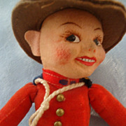 "SOLD 9"" Norah Wellings Canadian Mountie Doll"