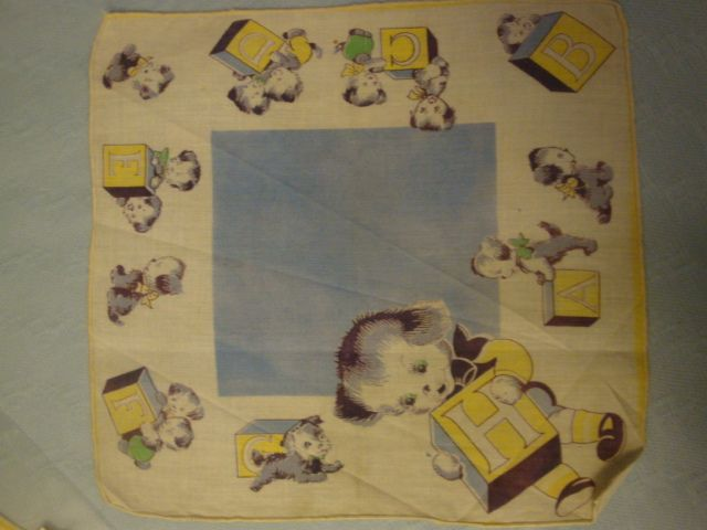 Two Vintage Children's Hankies