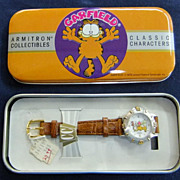 Vintage Garfield Watch - 1977 - with metal case.