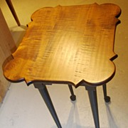 New Hampshire Bench-made Tiger Maple Porringer Table