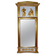 Swedish Pier Mirror with Classical Relief