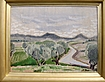 "Henry Varnum Poor Oil Painting ""The River Valley"""