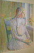Lucy Hariot Booth Color Sketch of Woman Sitting