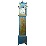 18th c. Chinoiserie Tall Case Clock by William Kipling, London