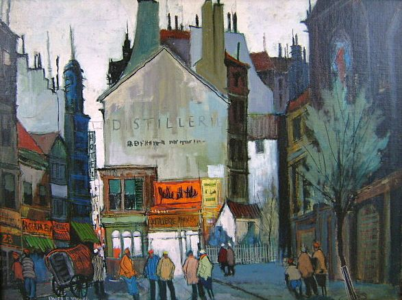 Paintings City Scenes City Streets Oil Paintings