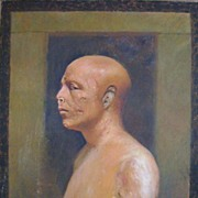 "Joseph Lindon Smith Oil Painting ""Bust of Prince Ankh-Haf"""
