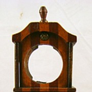 19th c. Watch Hutch Grandfather Clock Form with Inlay