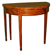 Federal Period Inlaid Mahogany 5-Legged Gaming Table c. 1800