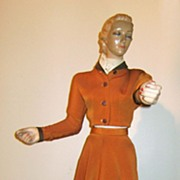 "Mid-Century Joan Crawford ""Mini"" Mannequin Store Display c. 1940"
