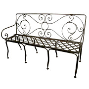 20th c. French Steel 5 ft. Bench