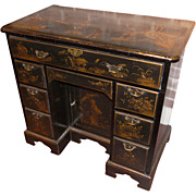 18th c. George III Japanned Knee Hole Desk