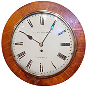 19th c. English Gallery Clock signed John Richardson, Howden