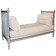18th c. French Polychrome Wood Daybed