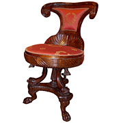 19th C. Quervelle Empire Side Chair