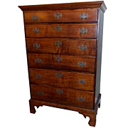 19th c. New England Chippendale Tall Chest