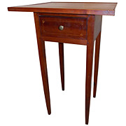 19th c. Hepplewhite Connecticut River Valley One-Drawer Stand