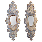 Great Pair of Carved Pine Garniture Mirrors