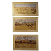 E. Blocaille &quot;Pytchley Hunt&quot; English Hunting Watercolors