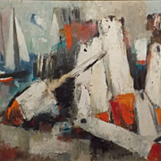 Tod Lindenmuth Oil Painting Lobster Buoys