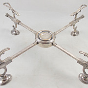 18th c. Sheffield Silver Plate Dish Cross Plate Stand