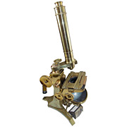 19th c. Andrew Ross Brass Microscope No. 334, London