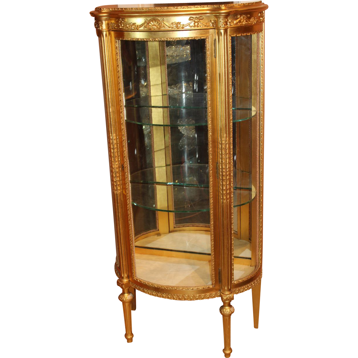 Giltwood French Style Curio Cabinet By Paine Furniture Company Boston From Nhantiquecoop On