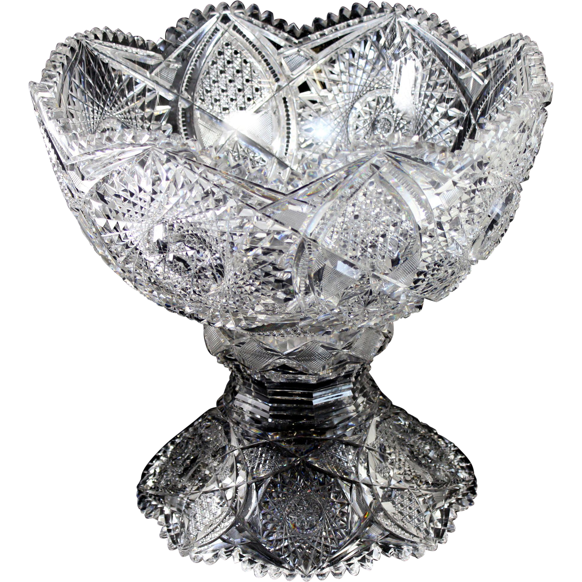 Brilliant Cut Glass Punch Bowl Cut Glass Punch Bowl on