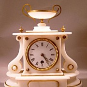 19th c. French Alabaster Clock