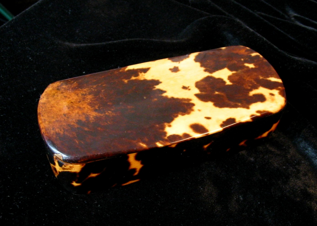 Antique 19th C Century Georgian English c1830 Tortoise Shell/Tortoiseshell Snuff Box/Tobacciana WOW!