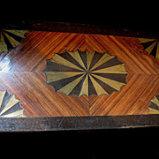 Antique VICTORIAN Tunbridge Inlaid Box 19th C Century Tunbridgeware Marquetry Casket STUNNING!