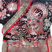 Antique Chinese Qing Prince Robe Silver Embroidered Embroidery 19th C Century MUSEUM QUALITY!