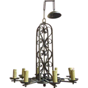 19th Century French Antique 8-Light Chandelier