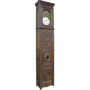 19th Century French Antique Grandfather Clock