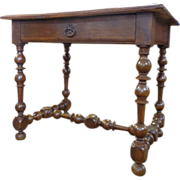 18th Century French Antique Walnut Writing Table