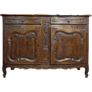 French Antique Provencal Style Walnut Buffet