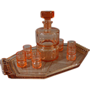 French Vintage Art Deco Liquor Set