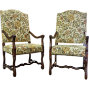 SOLD Pair of French Antique Os De Mouton Armchairs