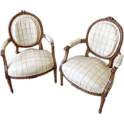 Pair of 19th Century French Antique Armchairs