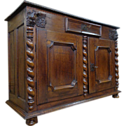 17th Century French Antique Walnut Buffet