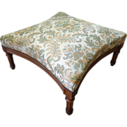 19th Century French Antique Walnut Ottoman