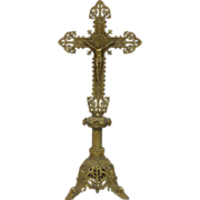 19th Century French Antique Bronze Crucifix
