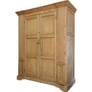 19th Century Irish Antique Pine Armoire