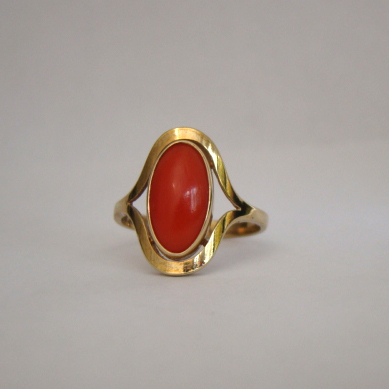 antique 8ct 333 genuine coral yellow gold ring from ninas
