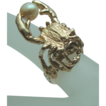15.51 Grams Studio 14K Pearl Crab Astrological Sign of Cancer Ring